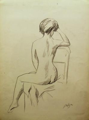 Gordon Meerovich Grigory (1909 - 1995). Sitting back Nude model