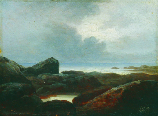 Lev Feliksovich Lagorio. The bay. 1860s