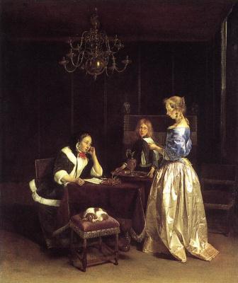 Герард Терборх. Женщина читает письмо