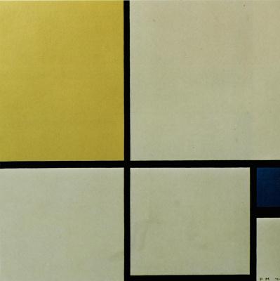 Пит Мондриан. Композиция с желтым и синим