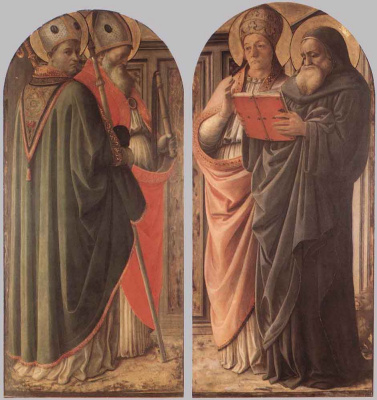 Fra Filippo Lippi. The Teachers Of The Church Of Christ
