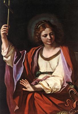 Джованни Франческо Гверчино. Святая Маргарита