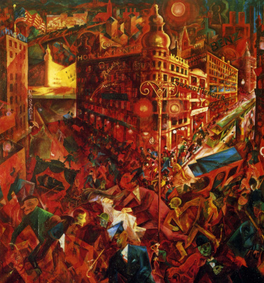 George Grosz. The view of the main street