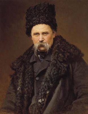 Ivan Nikolayevich Kramskoy. Portrait of Ukrainian poet and artist Taras Shevchenko