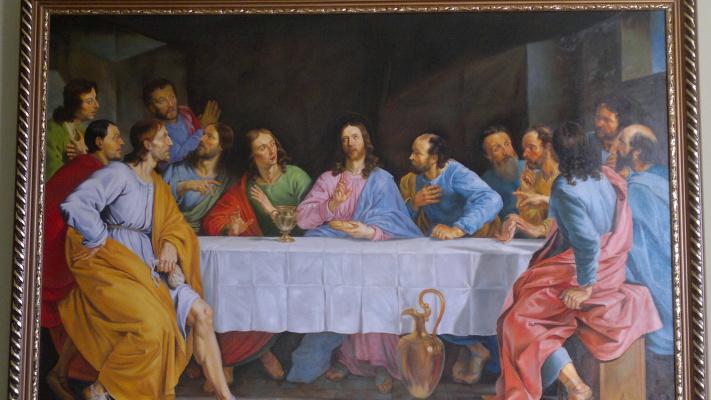 """Terna Serghei. """"The Last Supper"""" Philippe de Champaign Copy"""