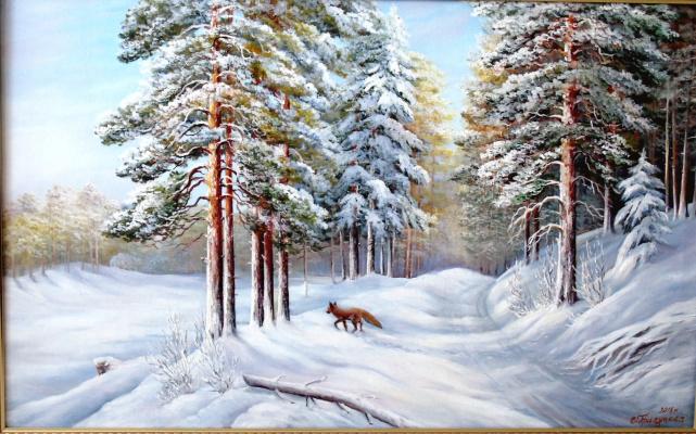 Cvetlan Vasilyevna Prilutskaya. Winter forest