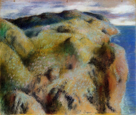 Edgar Degas. Steep Bank