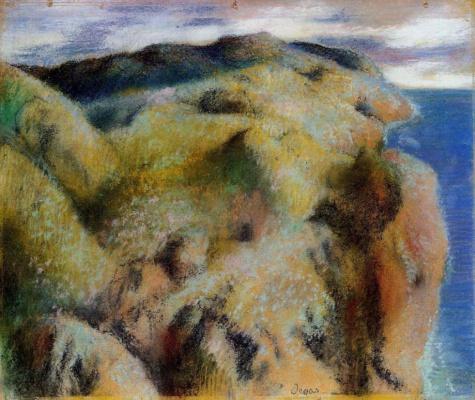 Edgar Degas. Steep Bank