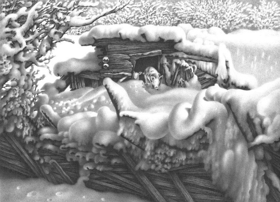 Гурам Николаевич Доленджашвили. Имеретинская зима. Село Нагареви