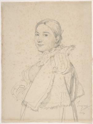 Jean Auguste Dominique Ingres. Madame Ingres