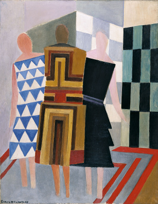 Three women, forms, colours
