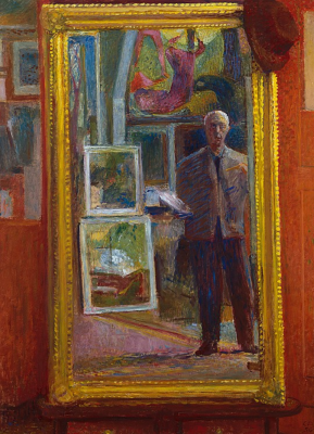 Self-portrait in the mirror