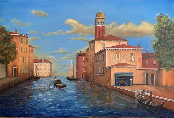 Aram Marinosyan. Venice canal