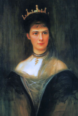 Филип Аликсис Де Ласло. Empress Elizabeth of Austria, Queen of Hungary and Bohemia (posthumous portrait)