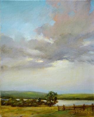 Alexander Ivanovich Kravtsov. Dawn over Klyazma