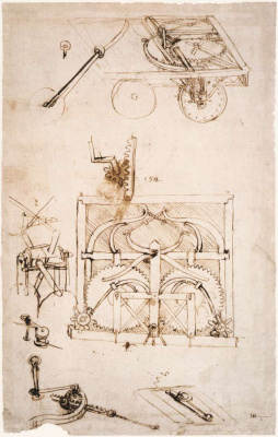 Leonardo da Vinci. Drawing car