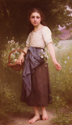 Jules Cyril Cave. Picking daisies