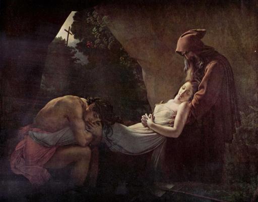 Анн-Луи Жироде де Русси-Триозон. Погребение Аталы
