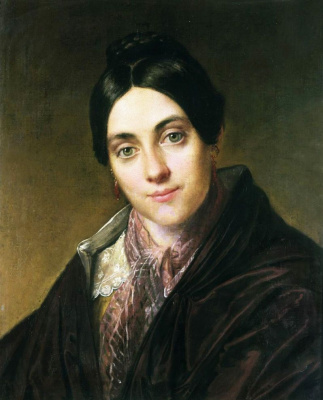 Vasily Andreevich Tropinin. Portrait Of L. K. Makovskaya