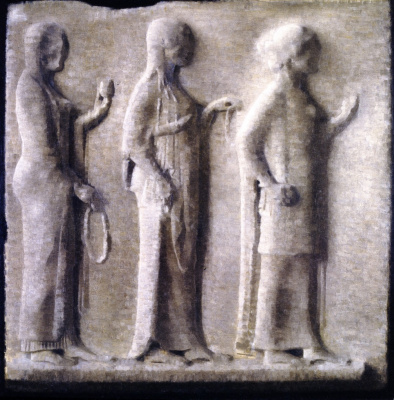 Вильгельм Хаммерсхёй. Греческий барельеф в Лувре