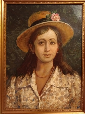 """Alexander Grigorievich Serdyukov. """"Girl in a hat"""""""