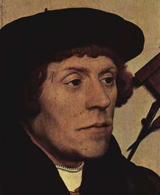Hans Holbein The Younger. Portrait of the astronomer Nikolai Kratzer. Fragment
