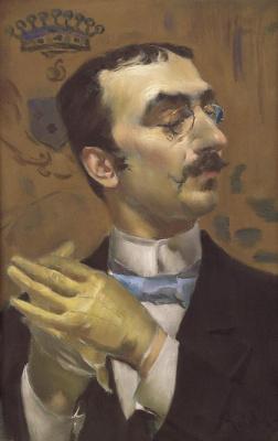 Giovanni Boldini. Portrait of a dandy (Portrait of Henri de Toulouse-Lautrec)