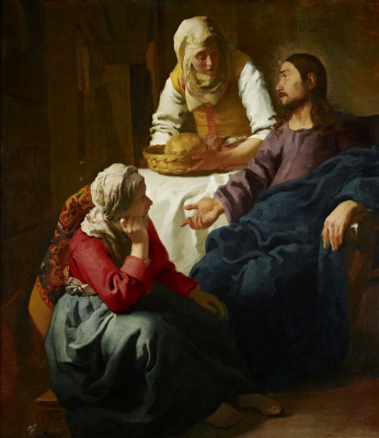 Ян Вермеер. Христос в доме Марфы и Марии