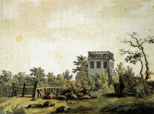 Caspar David Friedrich. Landscape with Pavilion