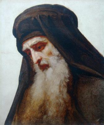 Иван Николаевич Крамской. Голова монаха (Голова старика. Голова апостола)
