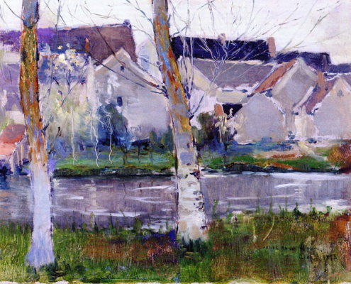 Charles Rollo Peters. Study of houses at GRES, France