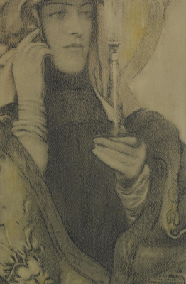 Fernand Knopf. Incense. Etude