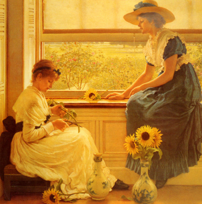 George Dunlop Leslie. Sunflowers