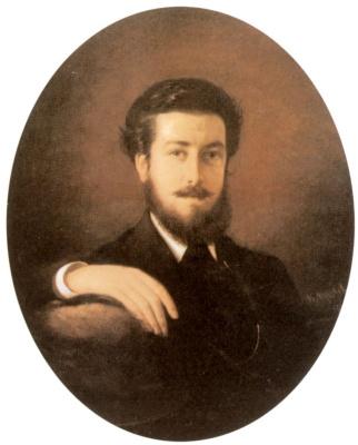 Vasily Vladimirovich Pukirev. Self-portrait