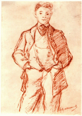 Edouard Manet. Sketch of a boy