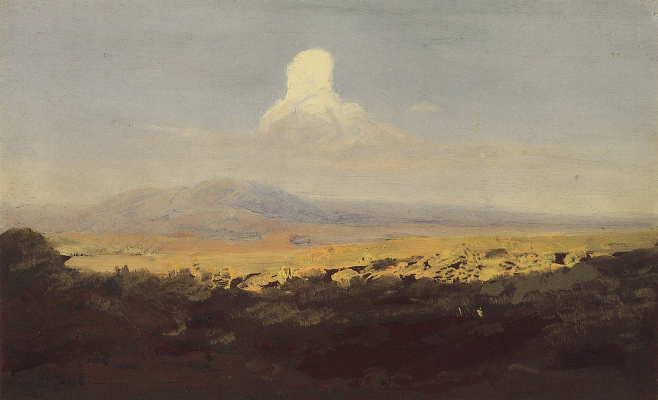 Arkhip Ivanovich Kuindzhi. Cloud over a mountain valley