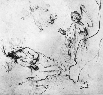 Рембрандт Харменс ван Рейн. Сон Иакова