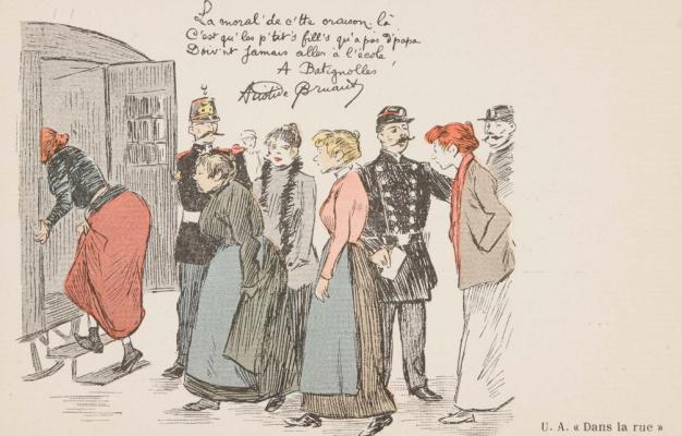 Theophile-Alexander Steinlen. Landing of prostitutes in police van