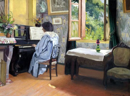Феликс Валлоттон. Дама за пианино
