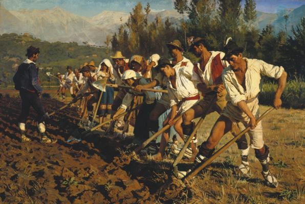 Peder Severin Kreyer. Italian field workers. Abruzzo