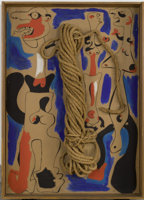 Joan Miro. Rope and people