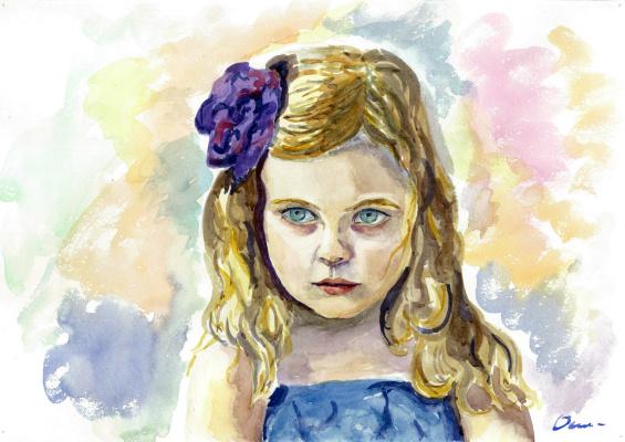 Ekaterina Viktorovna Osipovich. Portrait of a girl