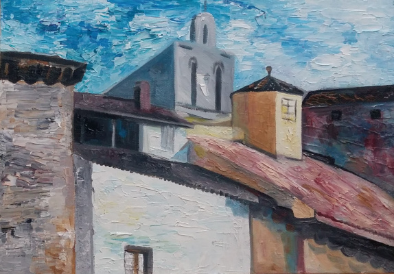 Marianna Borisovna Soina. Spain. Fragment of the building