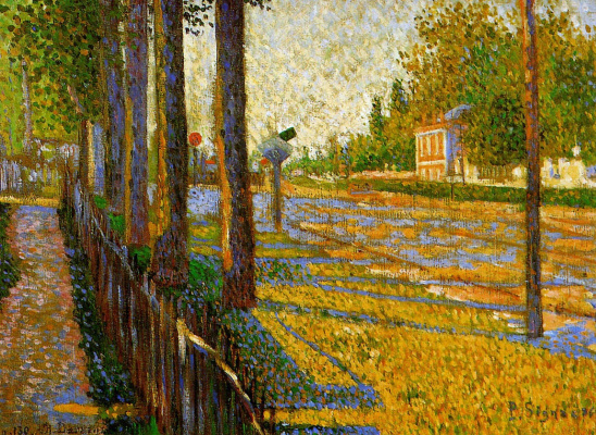 Paul Signac. The railway at Bois-Colombes