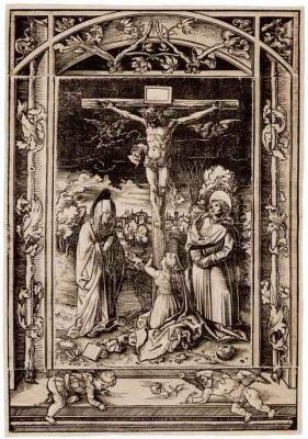 Ханс Вехтлин. Распятие с Марией, Марией Магдалиной и Иоанном