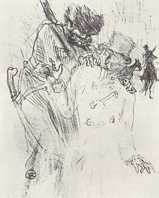 Henri de Toulouse-Lautrec. From Au Pied du Sinai written by Georges Clemenceau