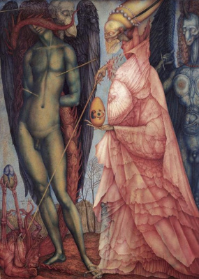Ernst Fuchs. Converted battle of the gods