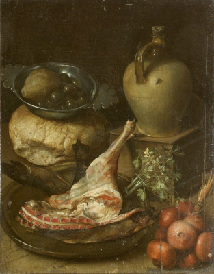 Unknown artist. Still life with a leg of lamb