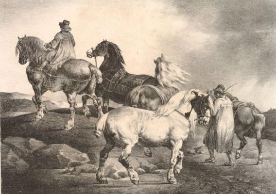 Теодор Жерико. На ярмарку лошадей II