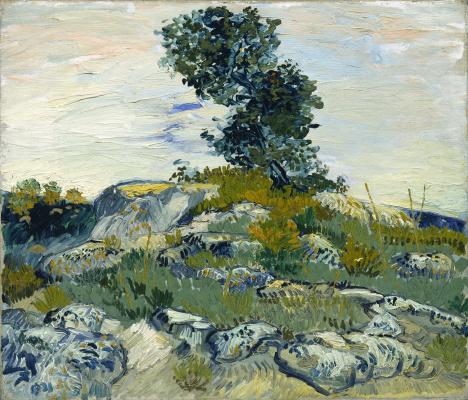 Vincent van Gogh. Oak on the rocks